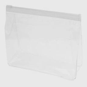 1 Necessaire Estojo Transparente Plastico Fechamento Zip Zap