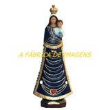 Escultura Nossa Senhora Loreto Imagem 15cm Estatua Gesso Ml