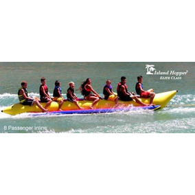 Island Hopper Banana Inflable Comercial Playa 8 Personas