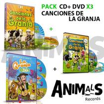 Pack Canciones De La Granja Vol. 1 , 2 Y 3 Cd+dvd Originales