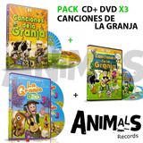 Pack Canciones De La Granja Vol. 1 , 2 Y 3 Cd+dvd Originales