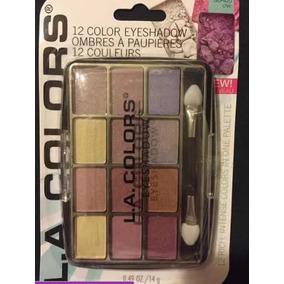 Kit La Colors Paleta 12 Cores + 2 Em 1 Gloss E Batom Promo