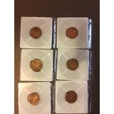Lote De 6 Monedas De 1 Centavo De Dolar Del Año 1959