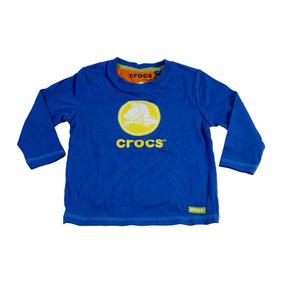 Remera Manga Larga Crocs Para Niños Blue