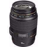 Lente Objetivo Canon Ef 100mm F/2.8 Macro Usm Nuevo Envio