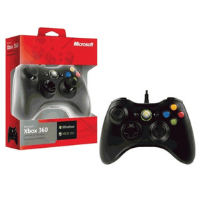 Controle Xbox 360 / P.c Com Fio 100% Original Microsoft