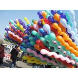50 Unidades Balão Parafuso Espiral Bexiga Colorido