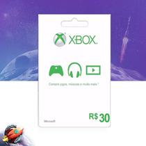 Cartão Microsoft Points Xbox Live Brasil De R$30 Digital