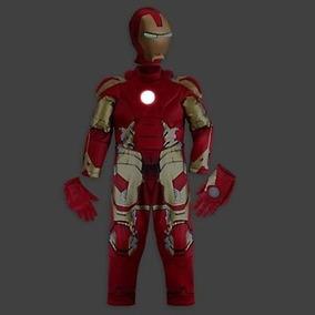 Fantasia Homem De Ferro 3,4,5,6,anos C/luz Orig.disney P/ent
