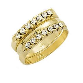 Aparador Em Ouro Amarelo 18k E Diamantes(0,70cts). Código