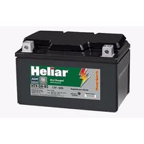 Bateria Heliar Htz 7abs- Burgman - Substtitui A Ytx7abs