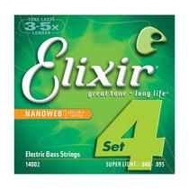 Encordoamento Elixir Super Light Contrabaixo 4 Cordas 040