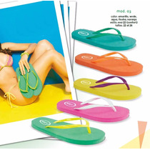 Sandalia Bonitas Baratas Moda Playa Dama Paq. De 12 Pares