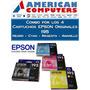 Combo Cartucho Epson 195 Original Xp201 211 Neg+ama+mag+cyan