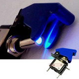 Chave Botão Caça Led Neon Azul Som Turbo Tuning Painel Top