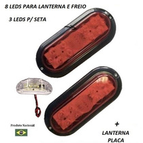 Par De Lanterna Led Selada Carretinha Carreta Jet Ski Barco