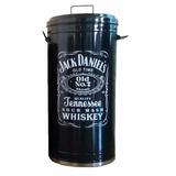 Lixeira Cesto Retro Vintage 50x30 Cm Jack Daniels Cozinha