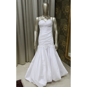 Vestido Noiva Branco Sereia Tomara Que Caia Bordado Tn-86