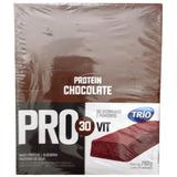 Barra De Proteína Trio Pro 30vit - Chocolate C/ 24 De 33g