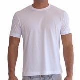 Camiseta Branca Lisa Básica Tradicional Camisa Malha Algodão