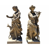 Estátuas Em Pedra Vulcânica Italiana Esculpida A Mão