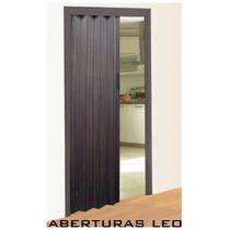 Puerta Plegable Plegadiza De Pvc 70x200 Color Wengue (negro)