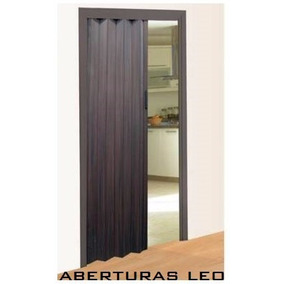 Puerta Plegable Plegadiza De Pvc 70x200 Color Wengue (negro)