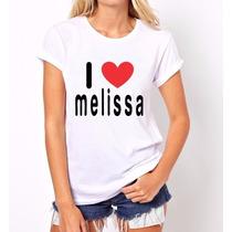 Baby Look Feminina I Love Melissa Promoção !!!
