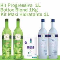 1 Progressiva Perola, 1 Kit Maxi Hidratante E 1 Bottox Blond