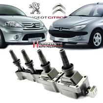 Bobina C3 Peugeot 206 207 307 1.6 16v 9636337880 Flex E Gas