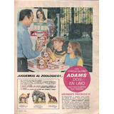 Antigua Publicidad Chicle Adams Dos En Uno Zoologico