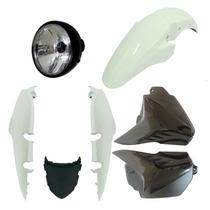 Kit Carenagem+ Farol Completo Fan 150 Branco Todos Anos