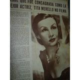 Clipping Tita Merello Consagrada Mejor Actriz No Filma Cine