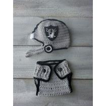 Gorros Tejidos Crochet Tipo Casco Raiders