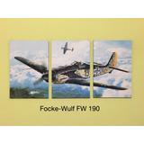 Cuadros - Triptico Aviones Segunda Guerra Mundial L