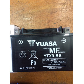 Bateria Yuasa Ytx 9bs Dr 650, Rf900, Gsx 750f 08-11, Xt 600