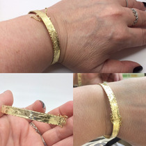 Bracelete Ouro 18k Escrava 10gr E 7cm Egito Farao Pulseira