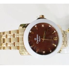Relógio Champion Feminino Barato 50 M Dourado Cn27661x /