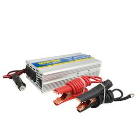 Inversor De Corriente Dc-ac, Cables Tipo Caimán 500w Surtek