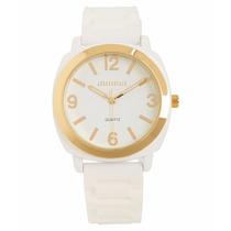 Relógio Aeropostale Feminino Branco E Dourado Style 1812