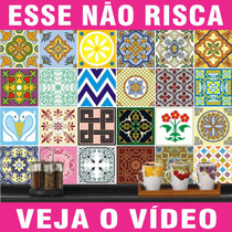Adesivo De Azulejo Português Ladrilho Hidráulico 20x20 Cm