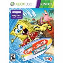 Xbox 360 Bob Esponja Surf & Skate Roadtrip Kinect