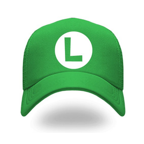 Gorra Luigi Mario Bros, Gorra Bordada 100% Algodon