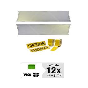 Kit Par Placa Aluminio Para Faixa Ouro Refletiva Caminhões