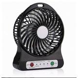 Mini Ventilador Portátil Mesa Usb Com 3 Velocidades Potente
