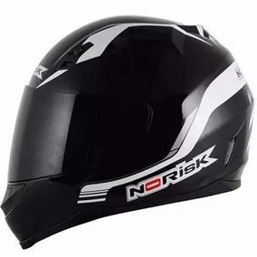 Capacete Motociclista Moto Norisk Ff391 Bones Preto/branco