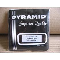 Encordoamento P/ Violão 7 Cordas Aço Pyramid Gold Completo