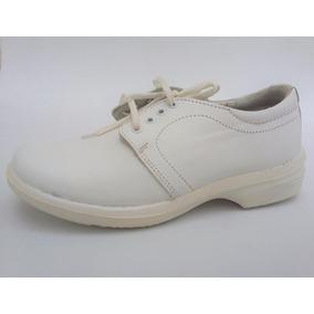 Zapato Para Enfermera Tipo Choclo Piel 23.5 Cm.