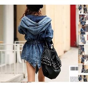 Capa De Jeans Con Capucha