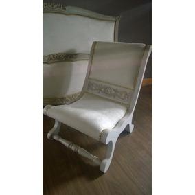 sillon antiguo de dormitorio luis xv xvi frances